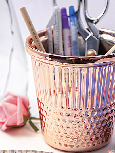 Rose Gold Thimble Craft Container photo